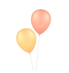 Yellow Red Balloons Isolated Background vector image
