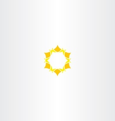 Yellow star icon sun logo vector