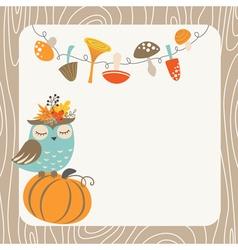 Autumn owl vector image vector image