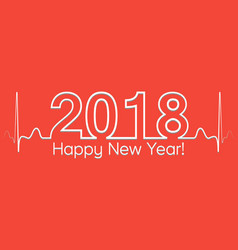 christmas banner 2018 happy new year vector image vector image