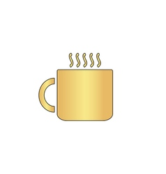 Hot cup computer symbol vector image vector image
