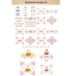 label set for restaurant menu design vector image