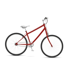 Red Bike vector image vector image