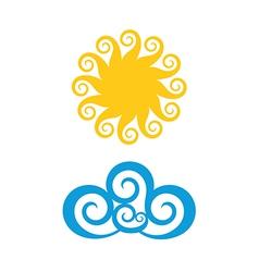 Sun Cloud vector image