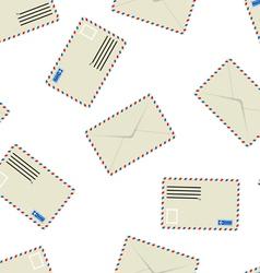White envelope seamless wallpaper vector image