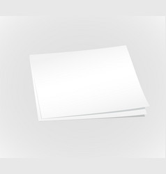 blank white papers background vector image
