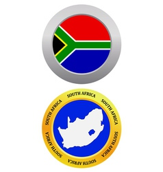 button as a symbol map SOUTH AFRICA vector image