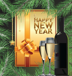 Happy new year elegant background vector image vector image
