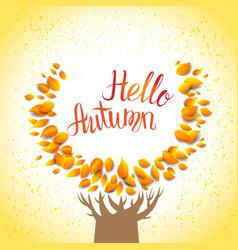 hello autumn tree vector image