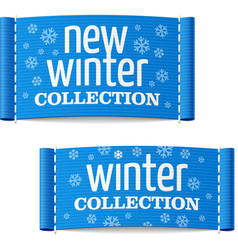 New winter collection clothing labels vector image vector image