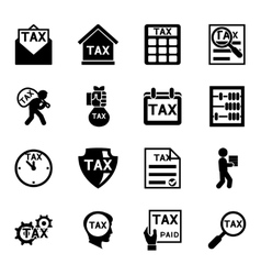 Tax and finance icons set vector image