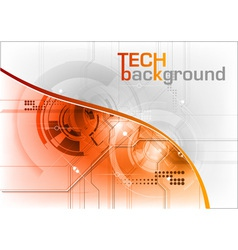 technical background with orange line vector image vector image