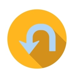 U turn icon flat style vector image vector image