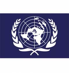 united nations flag vector image vector image