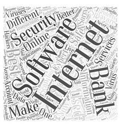 best internet security software Word Cloud Concept vector image vector image