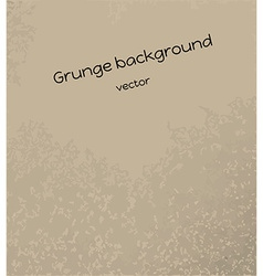 brown grunge background vector image vector image