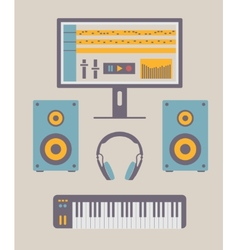 Home Music Studio vector image vector image