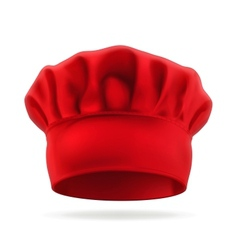 Red chef hat vector image vector image