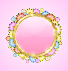 Flower bubble template vector image