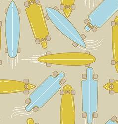 Longboard seamless pattern vector image