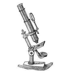 Microscope vintage engraving vector image vector image