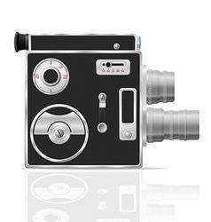 old retro vintage movie video camera 03 vector image
