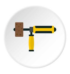 precision grinding machine icon circle vector image