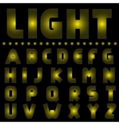 Yellow light alphabet vector image