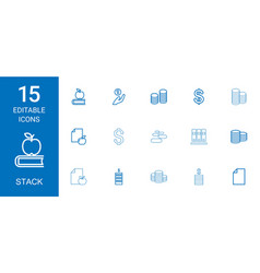 15 stack icons vector
