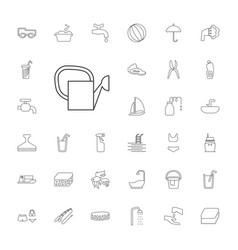 33 water icons vector