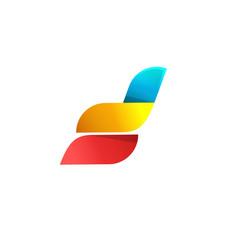 Abstract logo design idea or wings vector
