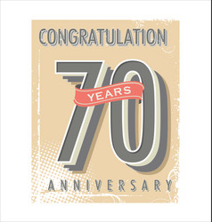Anniversary banner collection 70 years vector