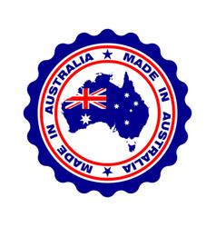 australia color vector image
