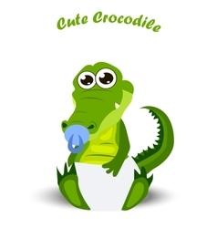 baby crocodile or alligator vector image