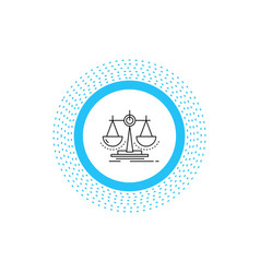 Balance decision justice law scale line icon vector