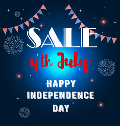 banner in honor independence day discounts vector image