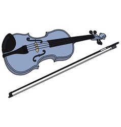 Blue violin vector