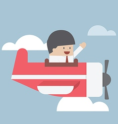 Businessman flying with private jet vector image