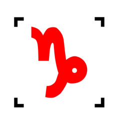 capricorn sign red icon vector image
