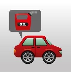 Car gallon oil red icon vector