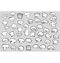 Chef toques and baker hats set vector image