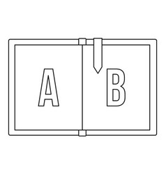 children abc icon outline style vector image
