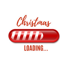 Christmas loading bar isolated on white background vector image