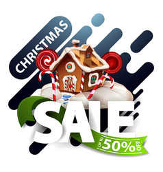 Christmas sale up to 50 off discount blue pop up vector
