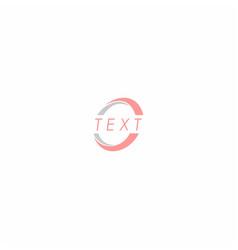 circle symbol design inspiration vector image