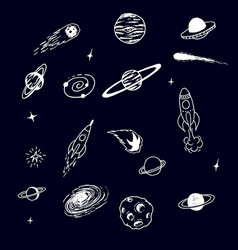 collection space cosmic object vector image
