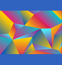 Colorful tech low poly splinters abstract vector