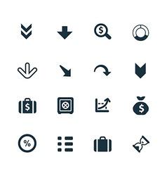 Crisis icons set vector