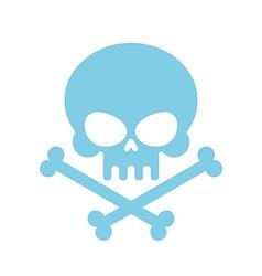 Cute Skull with bones honey kind Blue Head vector