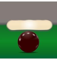 Dark brown ball on a billiard table The cue ball vector